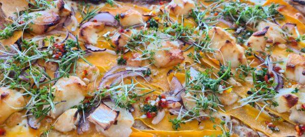 gedeost og søde kartofler